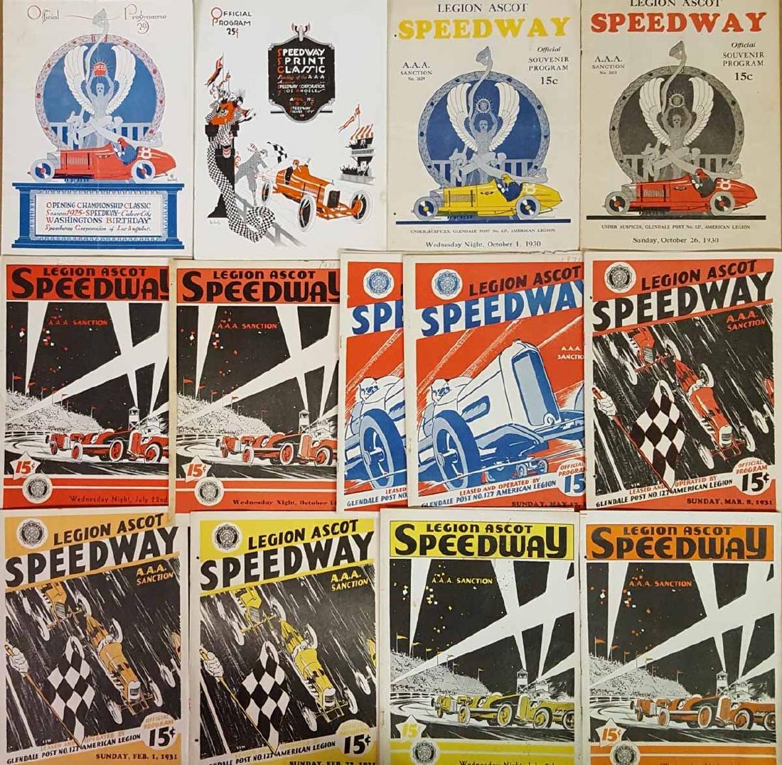 25 early race programs - 1925-1931