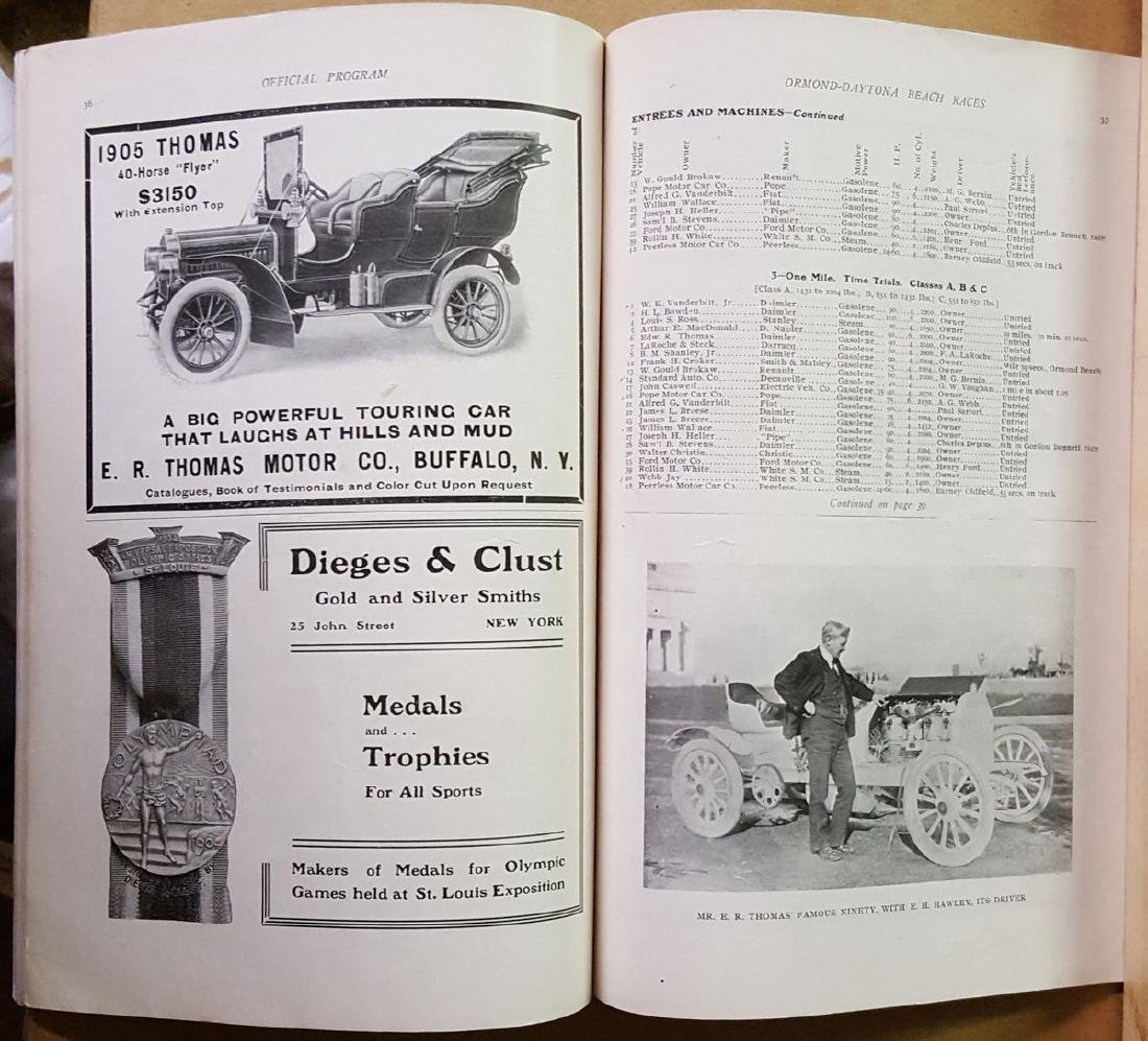 1905 Ormond Beach race and trial program - 3
