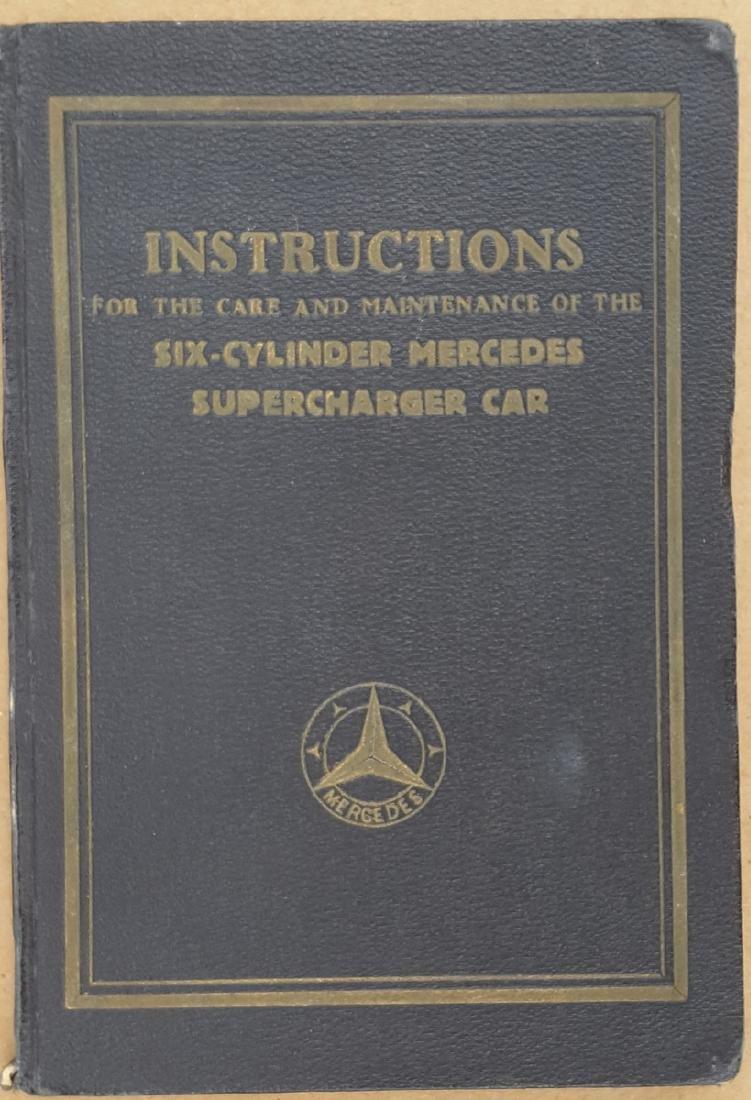 1920's Supercharged Merc Benz manual