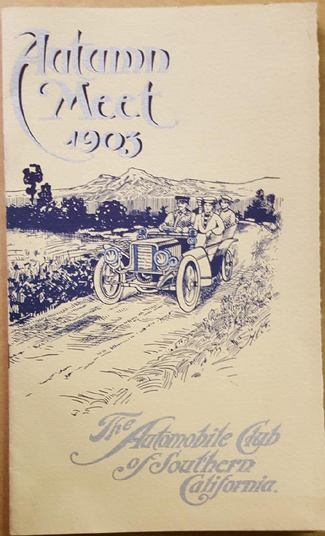 1903 So Calif Auto Race Meet program