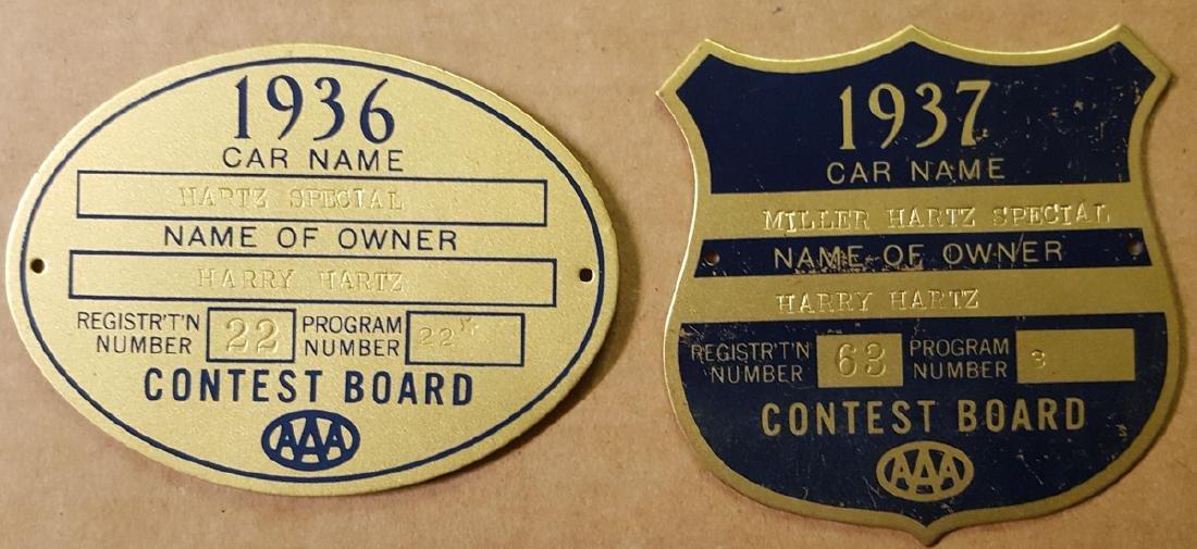 1936 Harry Hartz racing license, etc - 2