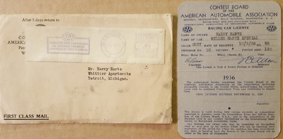1936 Harry Hartz racing license, etc - 3