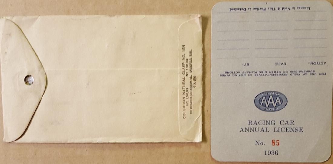 1936 Harry Hartz racing license, etc - 4
