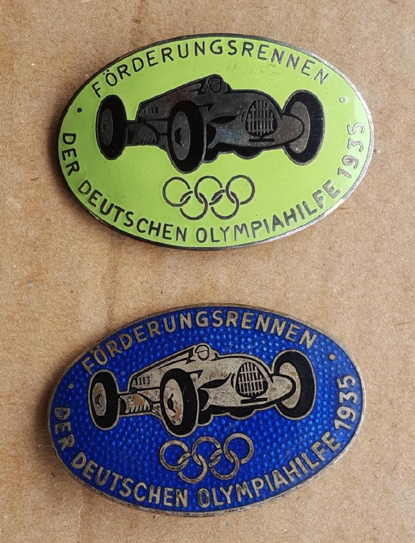 Two 1935 Auto Union Olympic pins