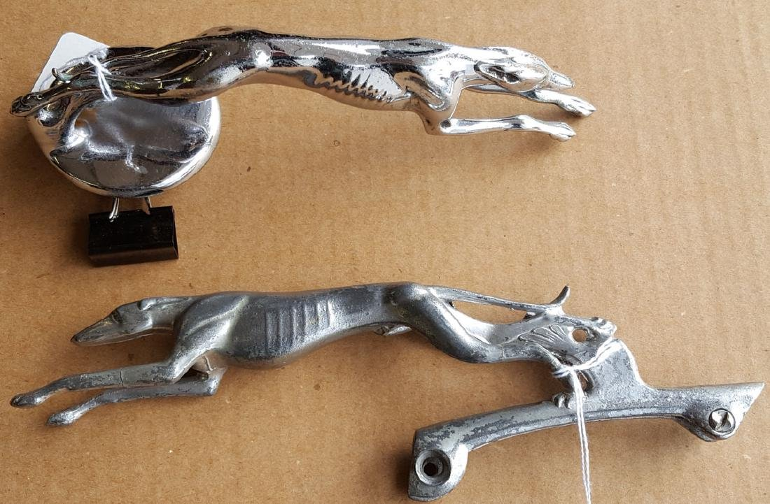 Lincoln and Ford greyhound mascots
