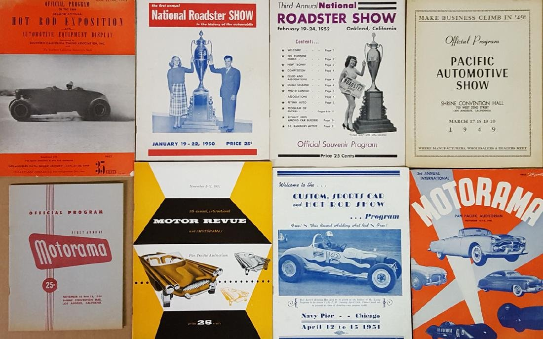 Eight late 1940's-1950's show catalogs