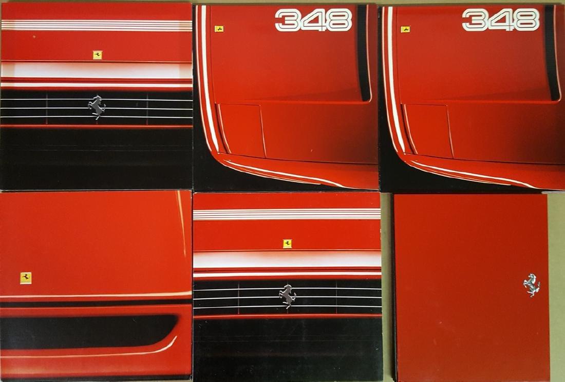 Six Ferrari brochures