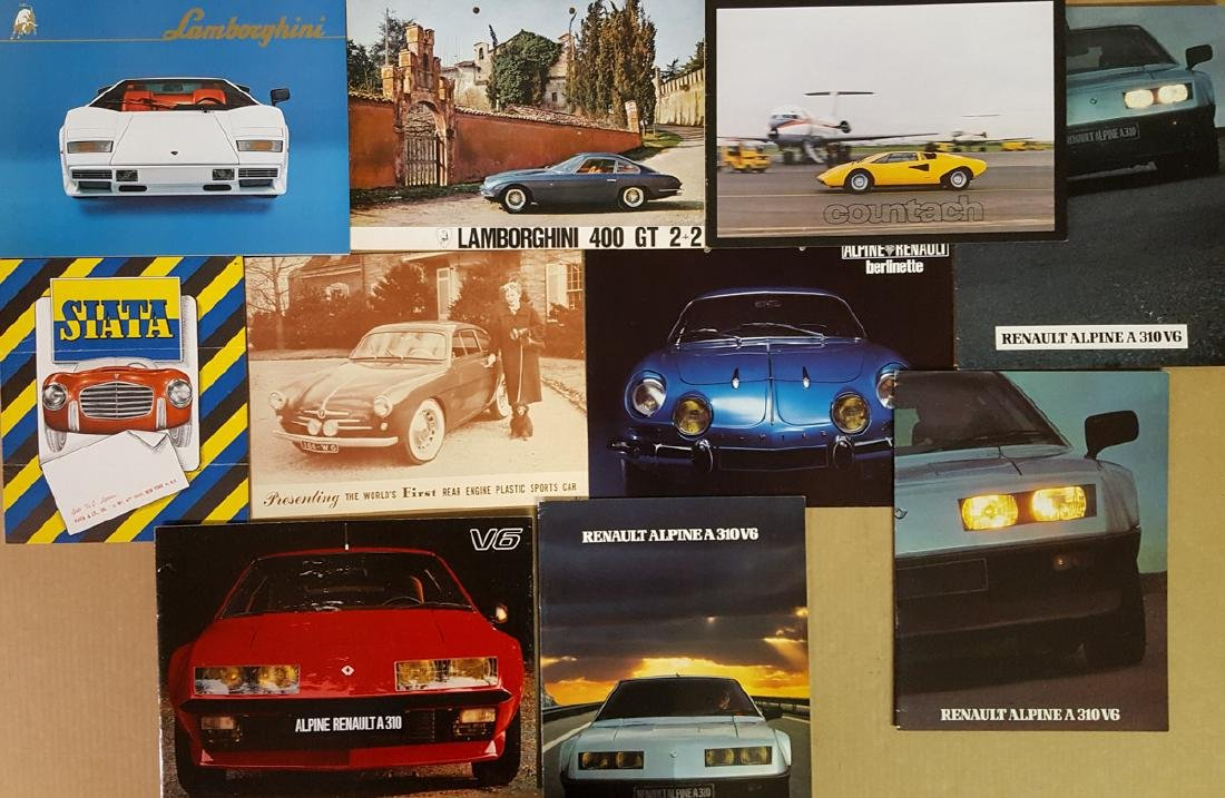 Italian and French brochures