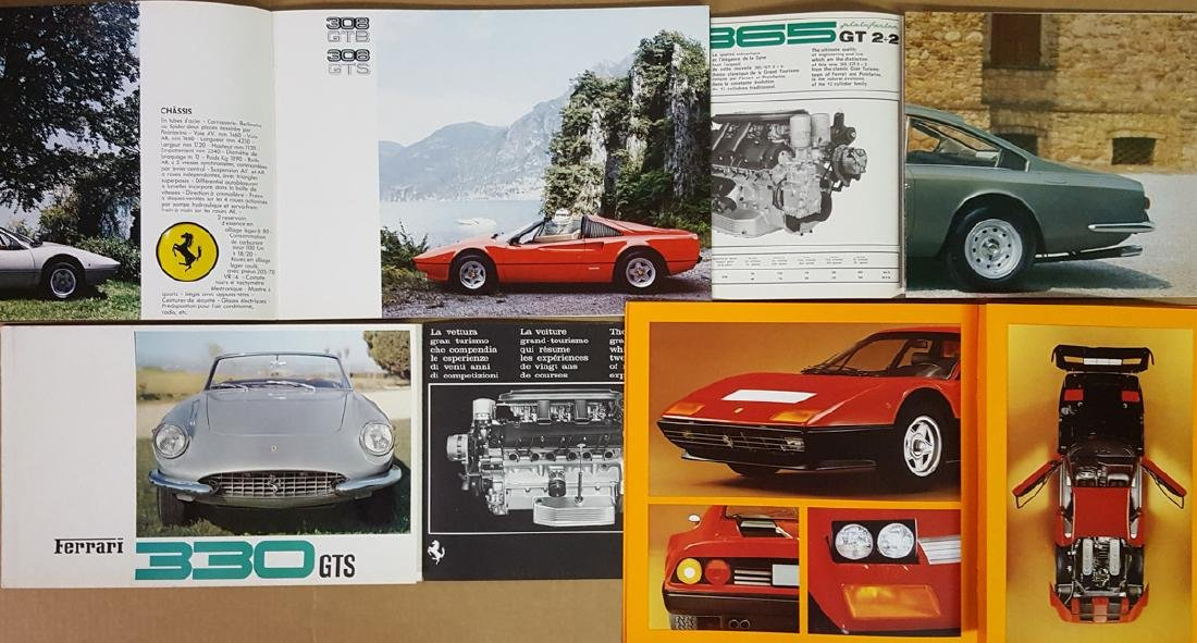 Six Ferrari brochures - 2