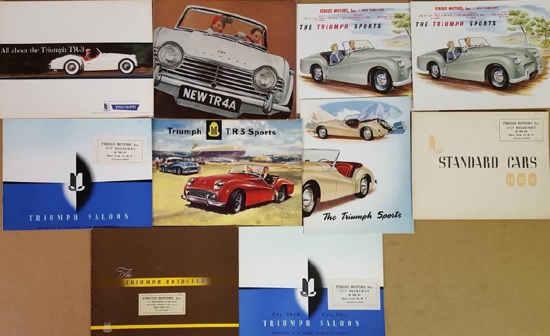 Triumph sports, passenger car brochures