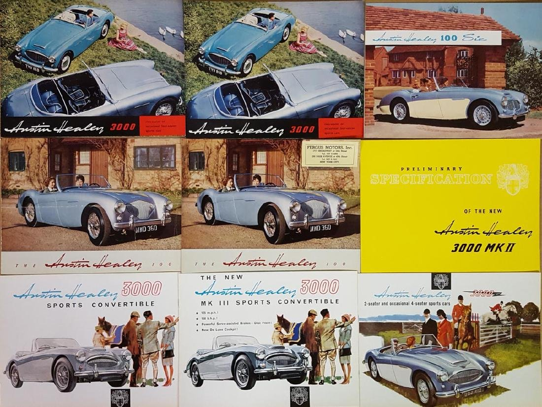 Austin Healey and Austin brochures