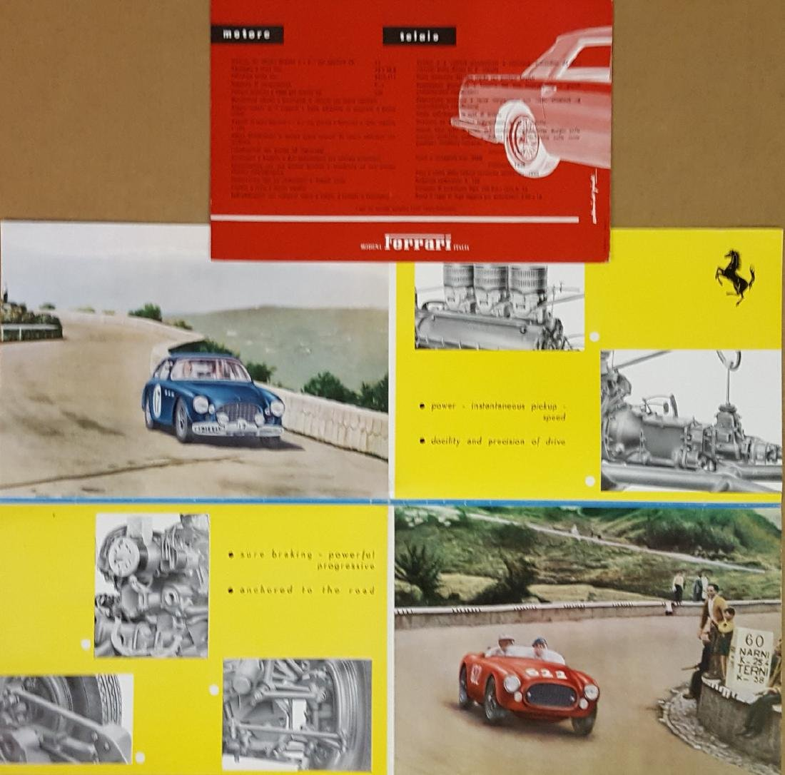Ferrari 250 MM and 250 GT Coupe brochures - 2