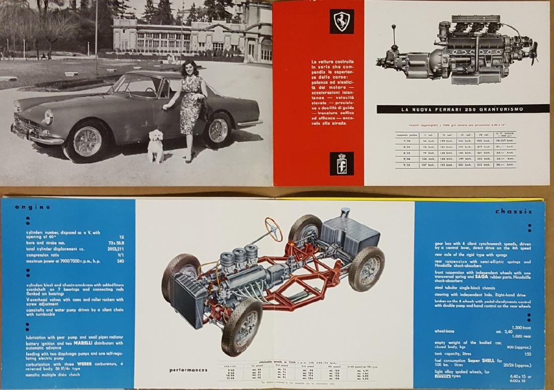 Ferrari 250 MM and 250 GT Coupe brochures - 3