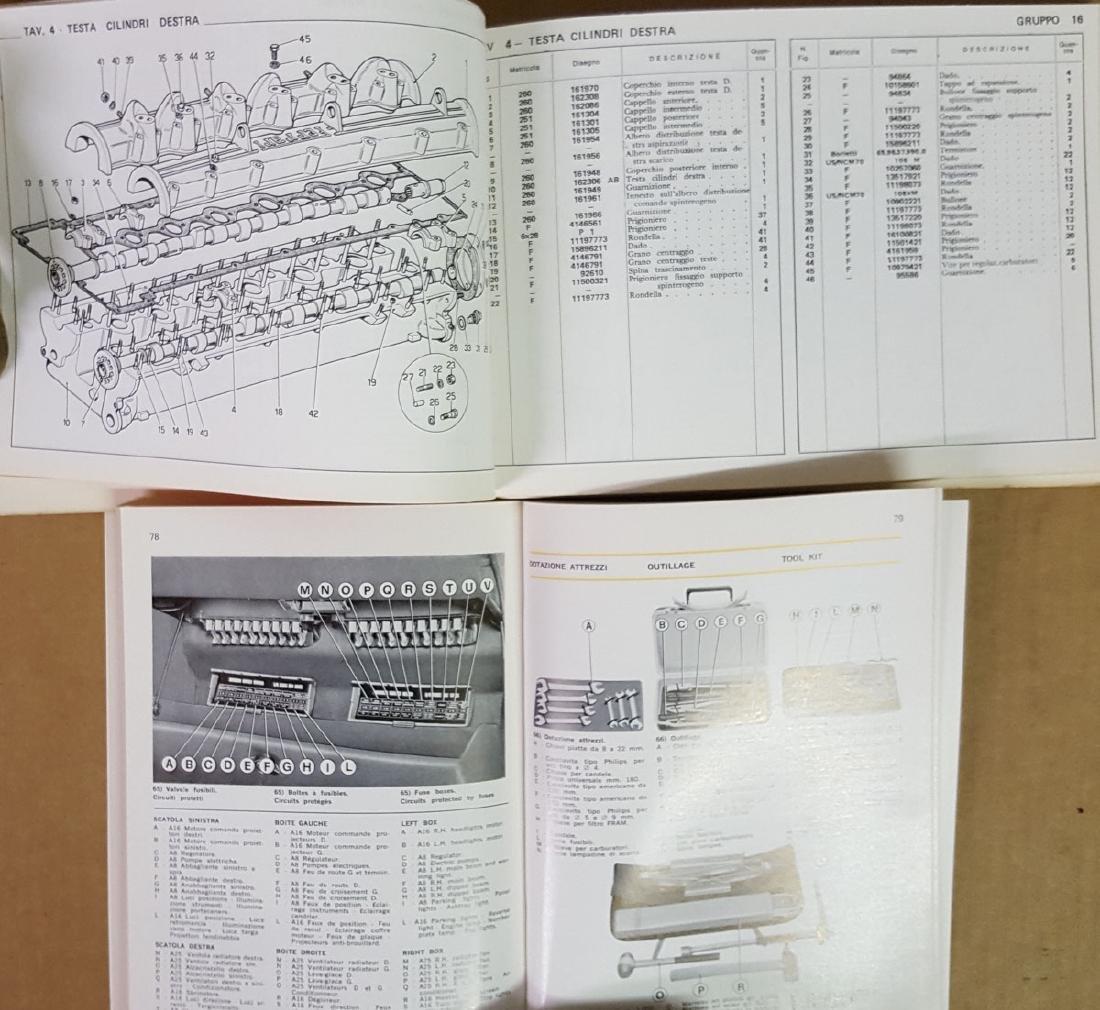 Ferrari 365 GTC 4 owners & parts manuals - 2