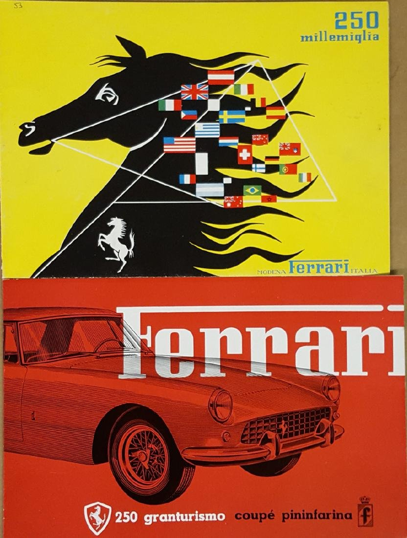 Ferrari 250 MM and 250 GT Coupe brochures