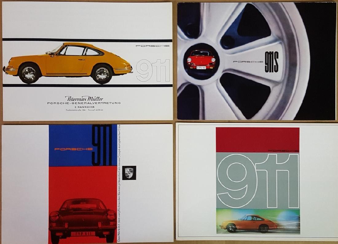 Four Porsche 911 brochures