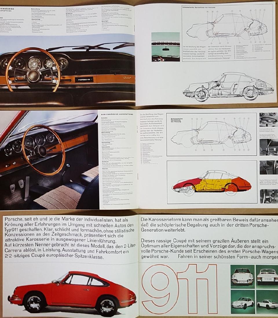 Four Porsche 911 brochures - 2