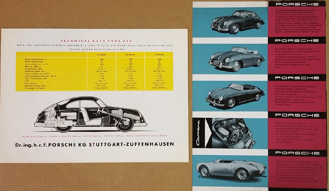 Two early Porsche 356 items - 2