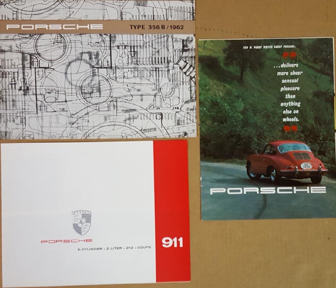 Three Porsche 356 and 911 brochures