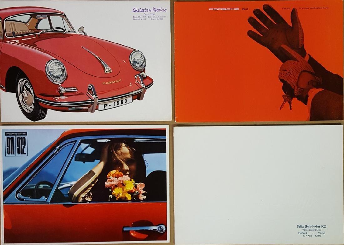 Four Porsche brochures - German text