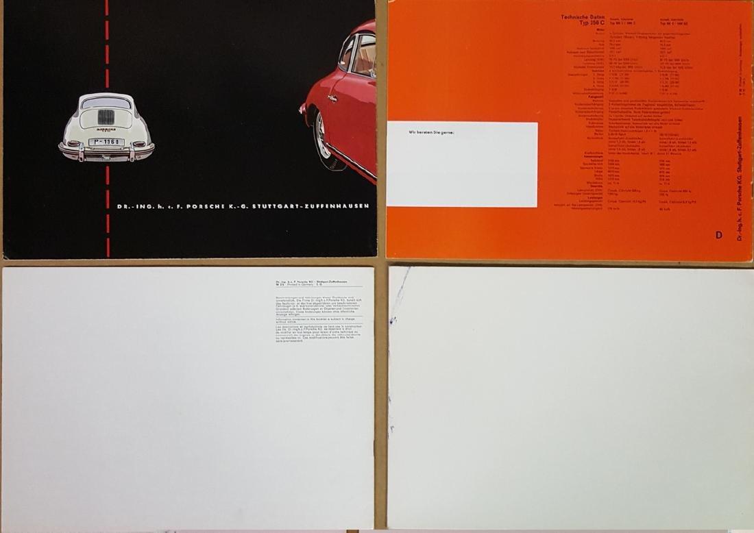 Four Porsche brochures - German text - 2