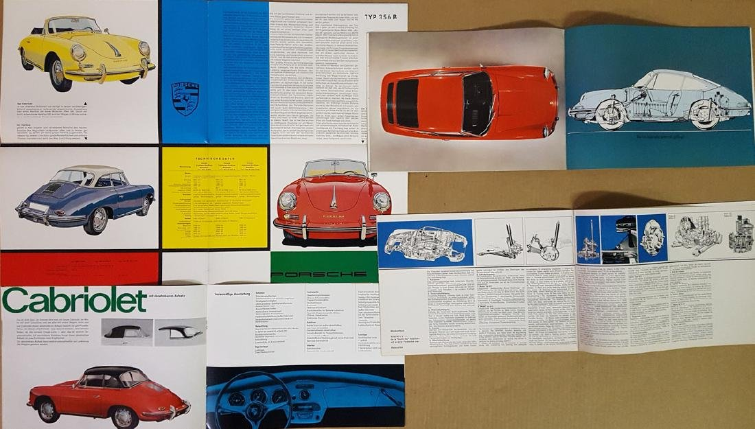 Four Porsche brochures - German text - 3