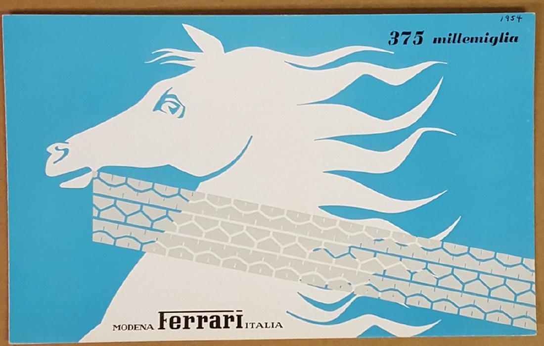 1954 Ferrari 375 Millemiglia brochure
