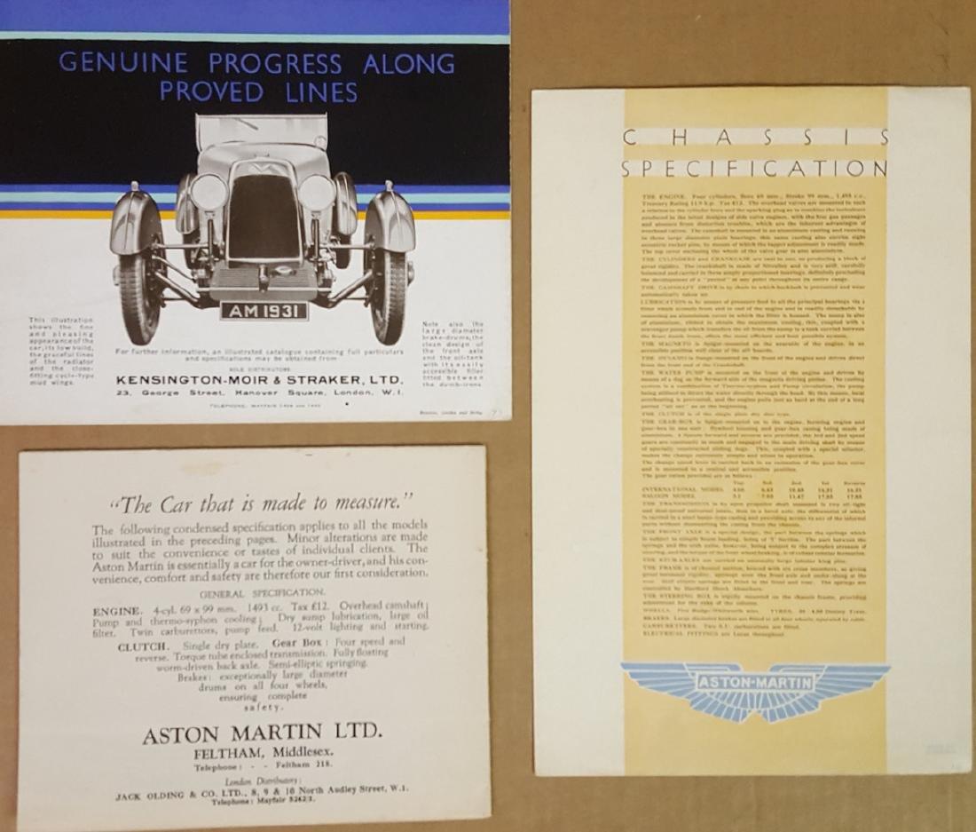 1930 - 1932 Aston Martin brochures