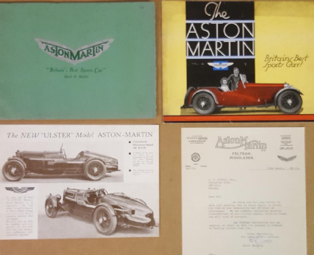 1934 - 1935 Aston Martin brochures
