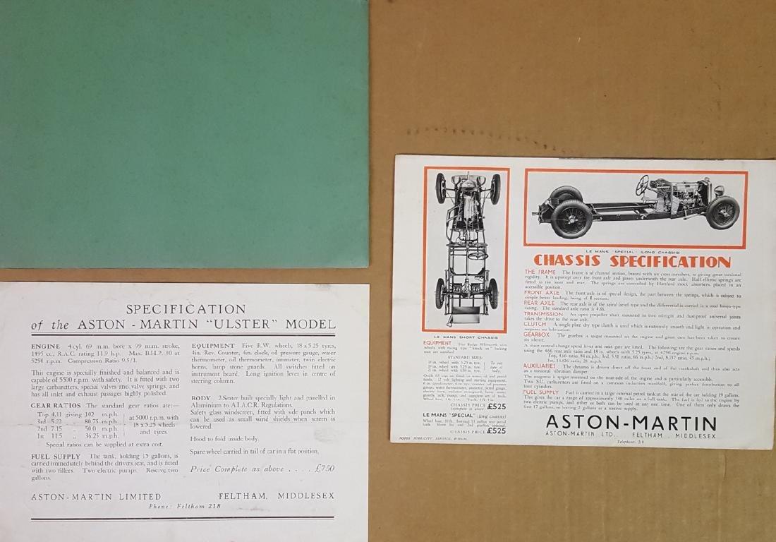 1934 - 1935 Aston Martin brochures - 2