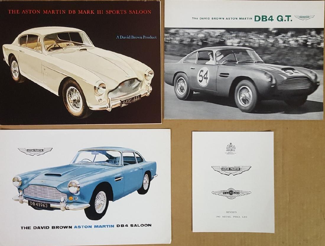 1956 - 1963 Aston Martin brochures