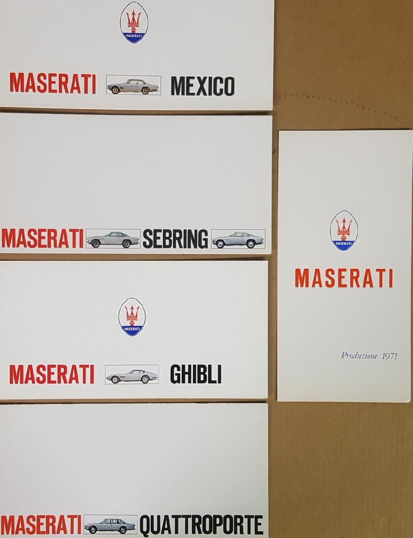 Five Maserati brochures