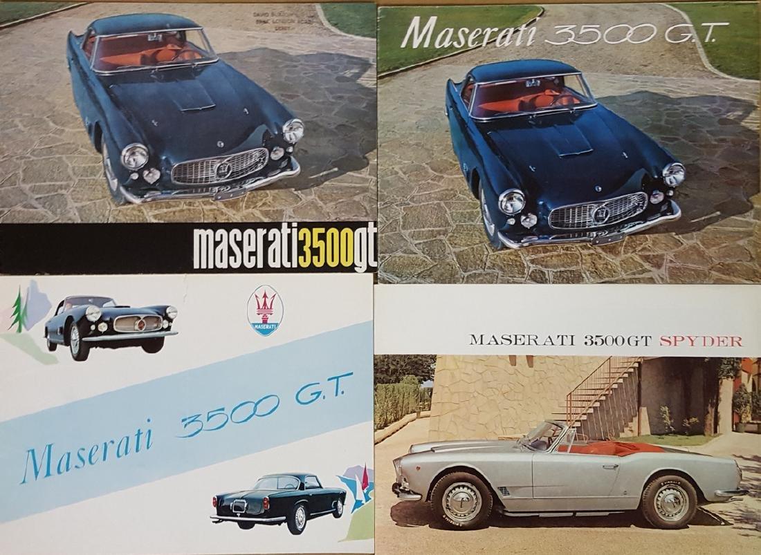 Four 1960's Maserati 3500 GT brochures