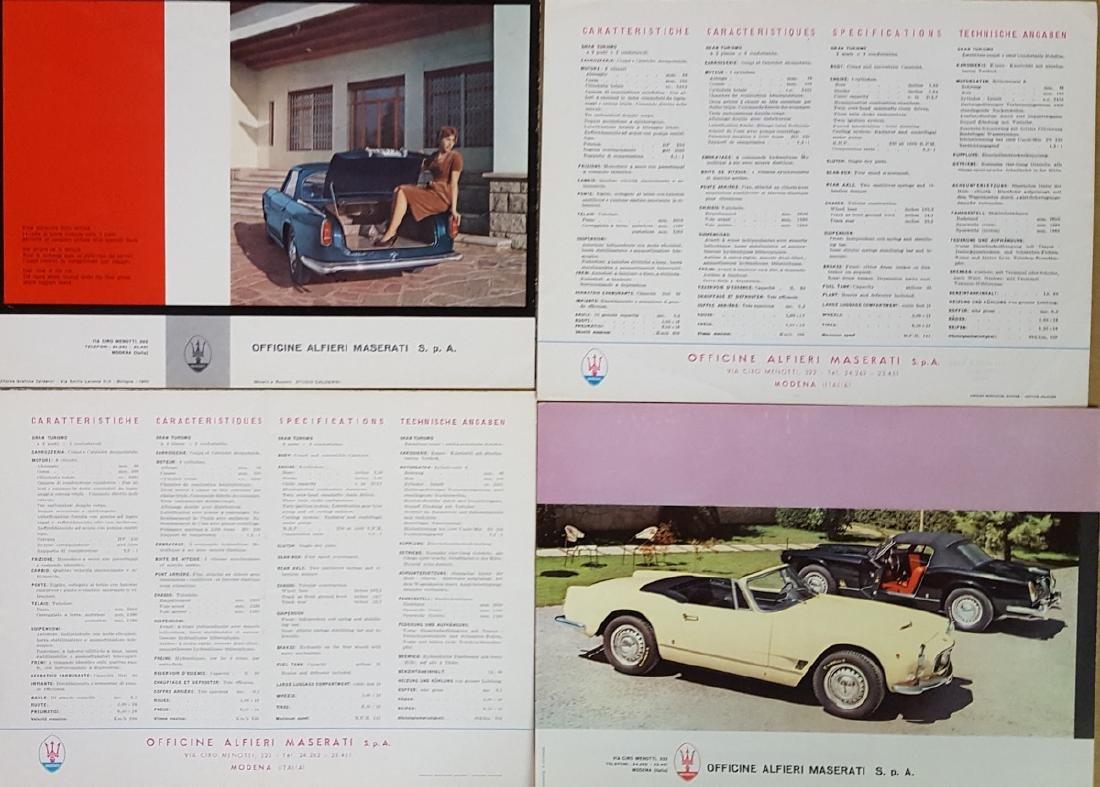 Four 1960's Maserati 3500 GT brochures - 2