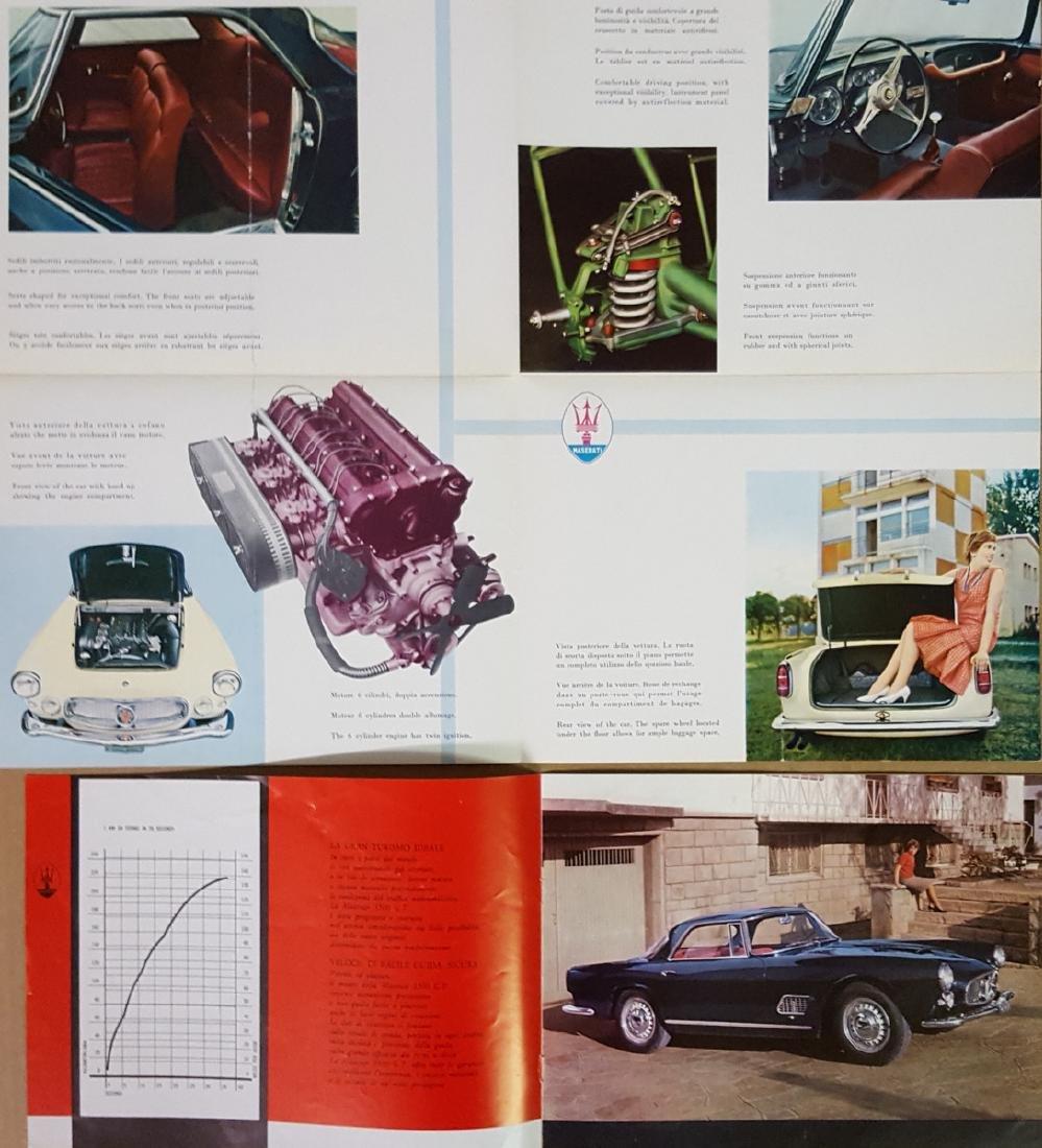 Four 1960's Maserati 3500 GT brochures - 4