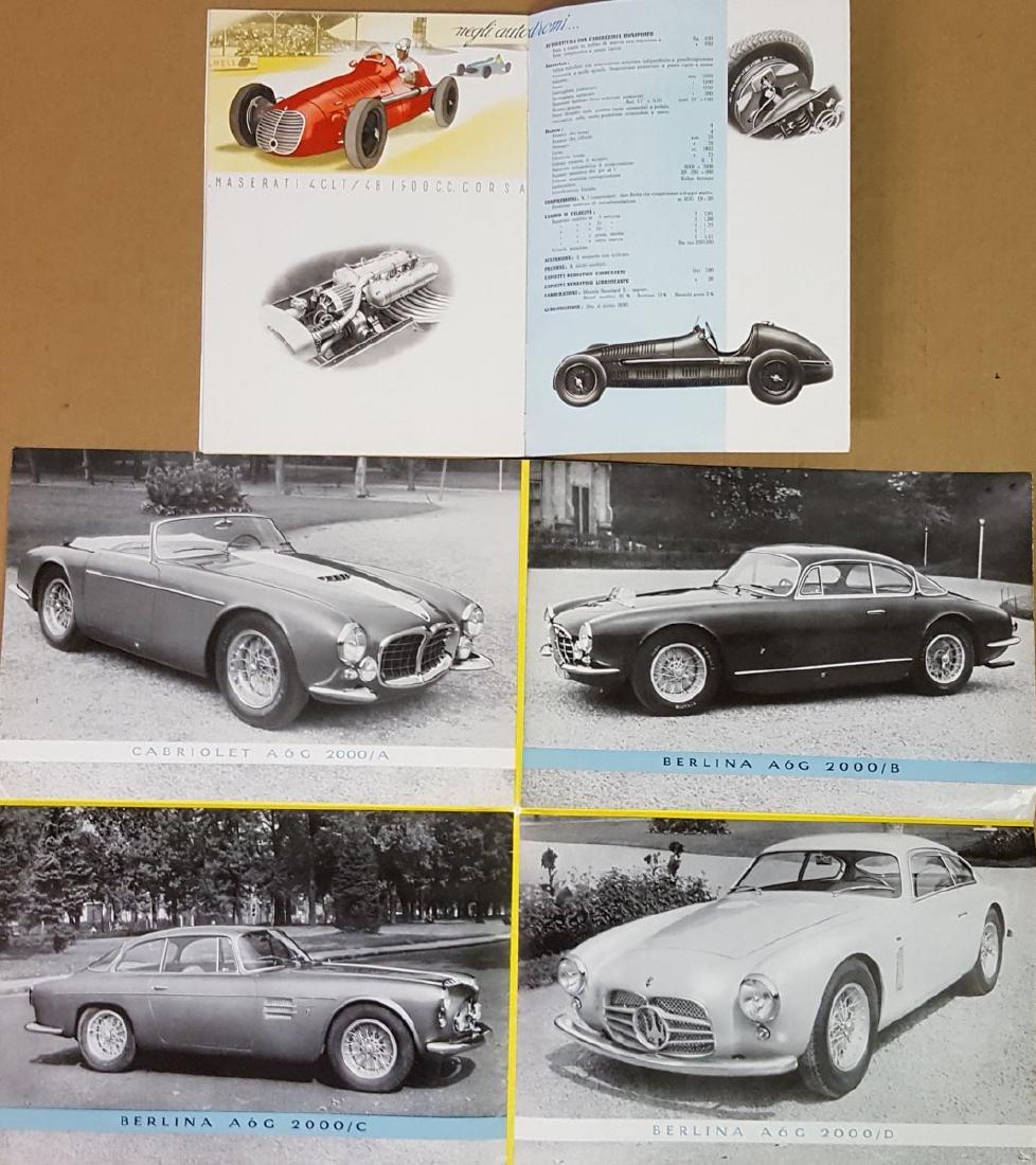 Two 1950's Maserati brochures