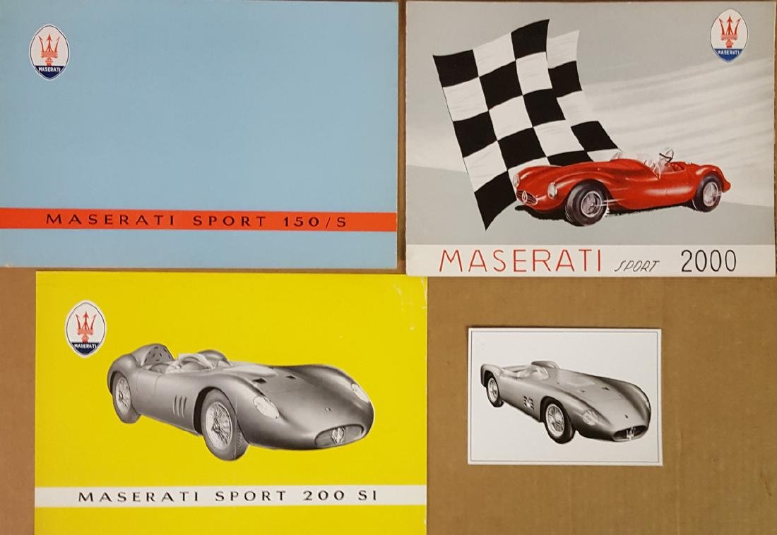 Maserati competition car brochures