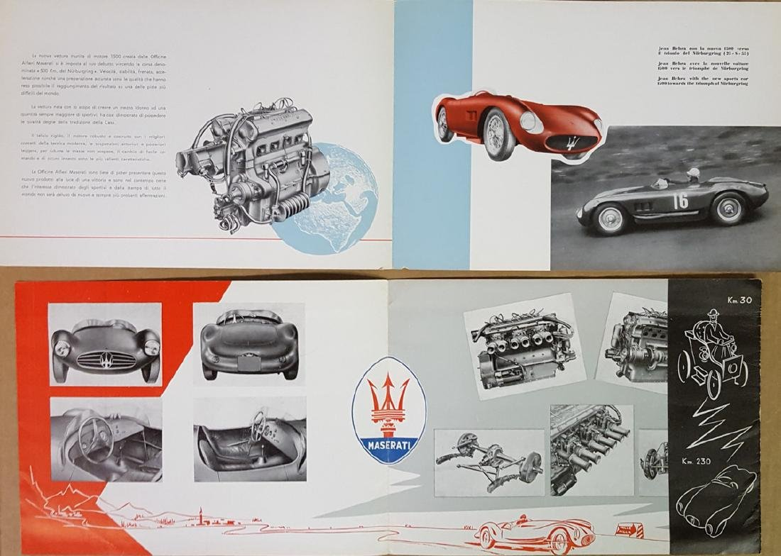 Maserati competition car brochures - 3
