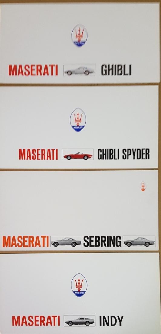 Four Maserati brochures