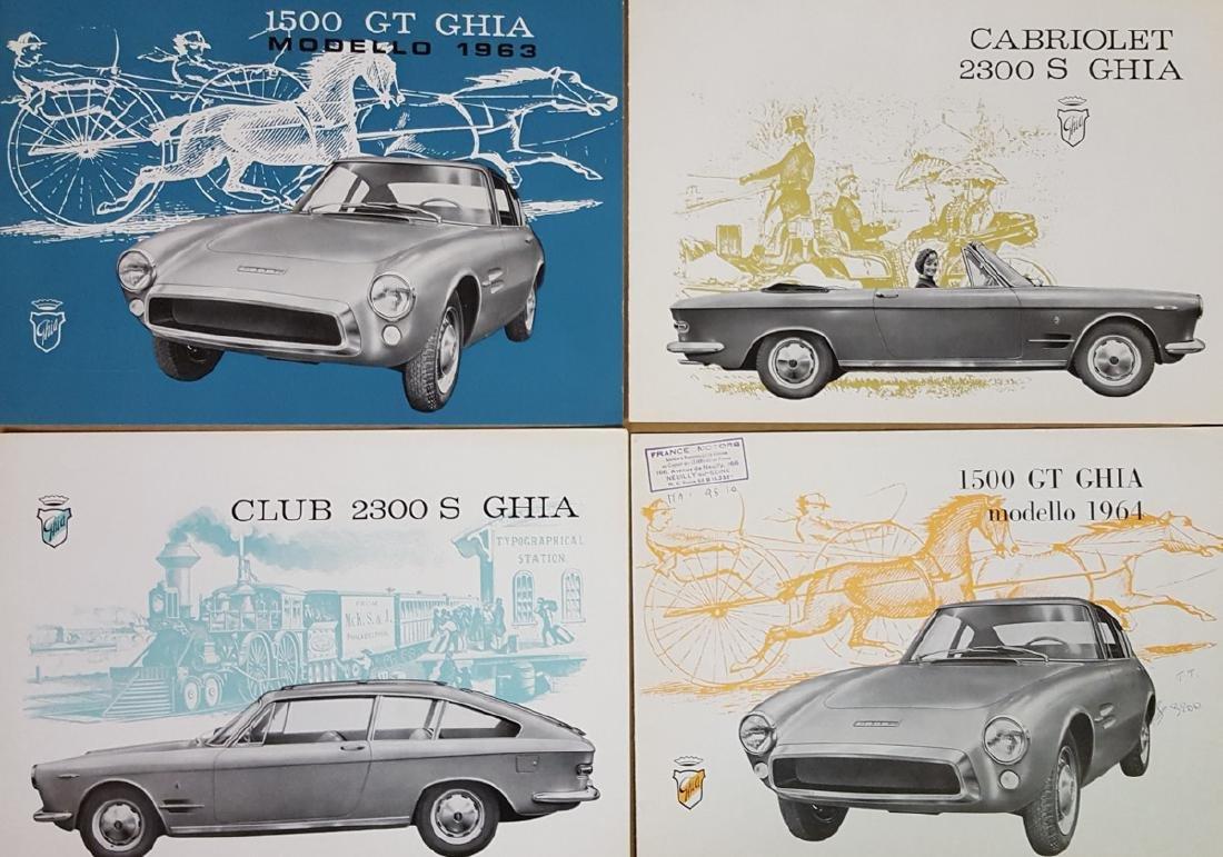 Four 1950's-60's Ghia brochures