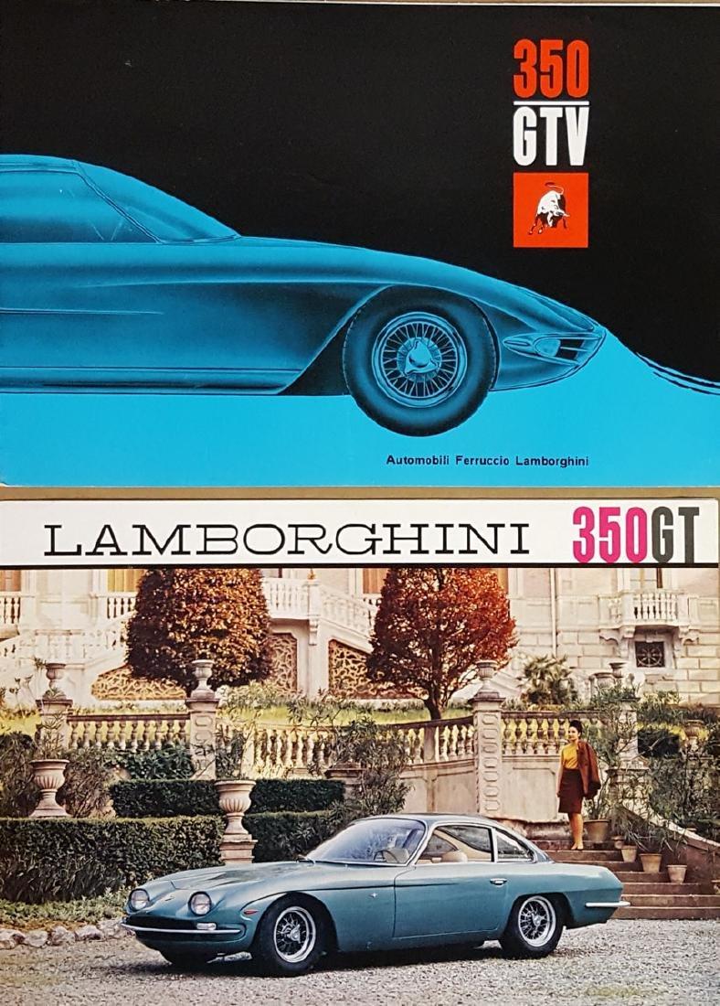 Two different Lamborghini 350 brochures