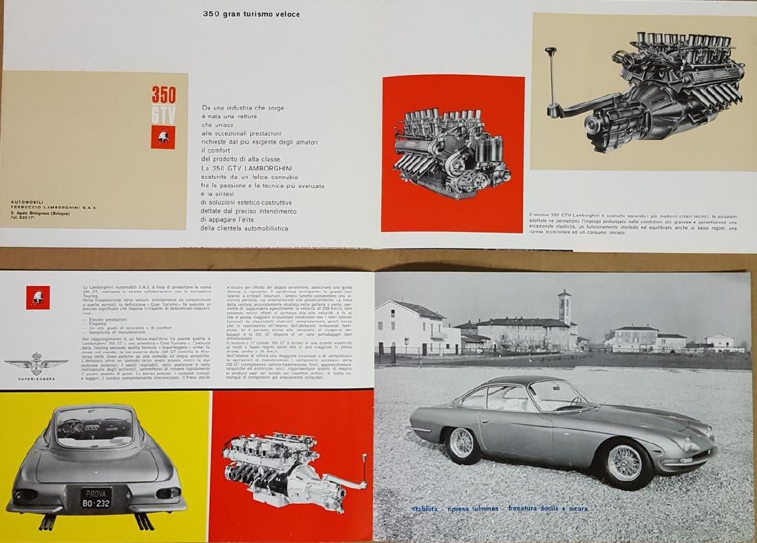 Two different Lamborghini 350 brochures - 3