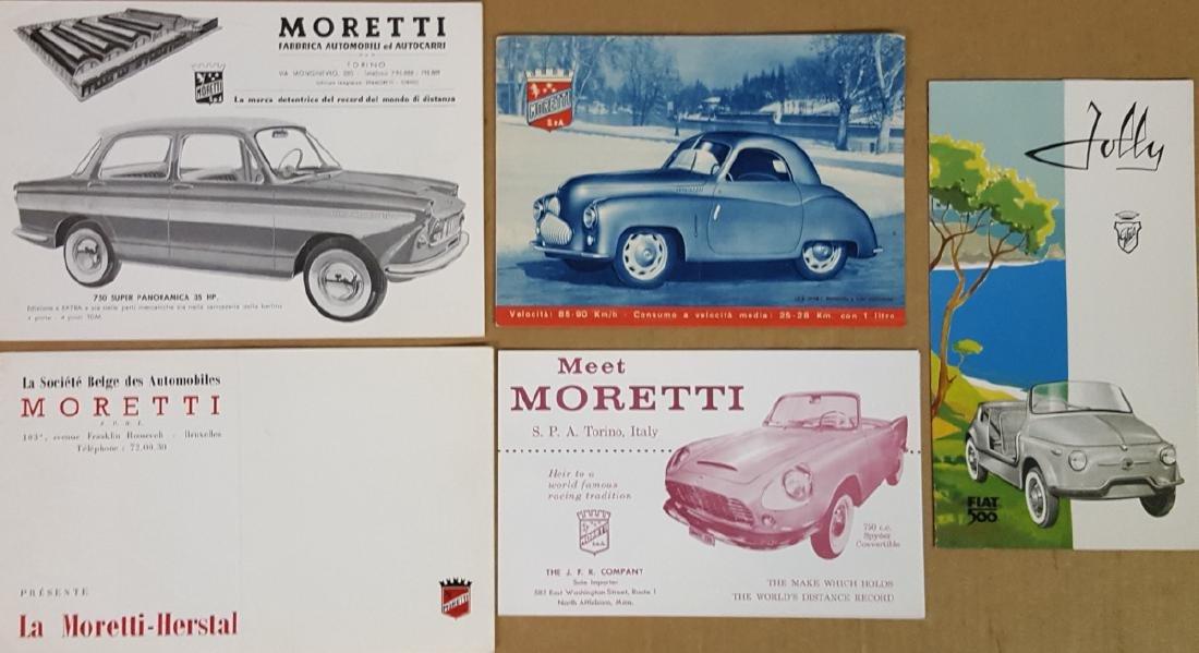 Five 1940's - 60's Italian brochures