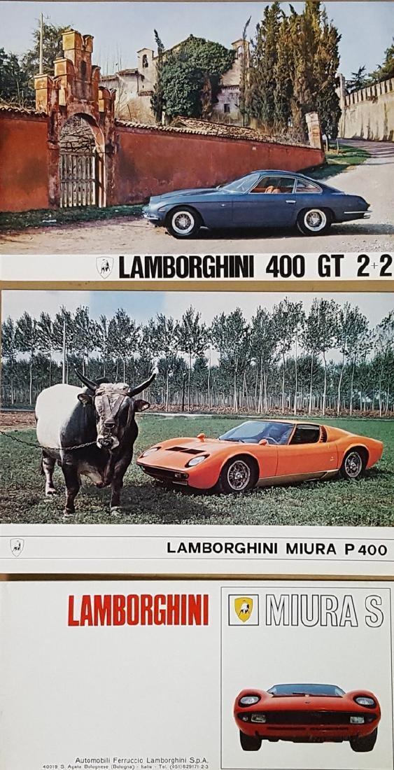 Three Lamborghini brochures