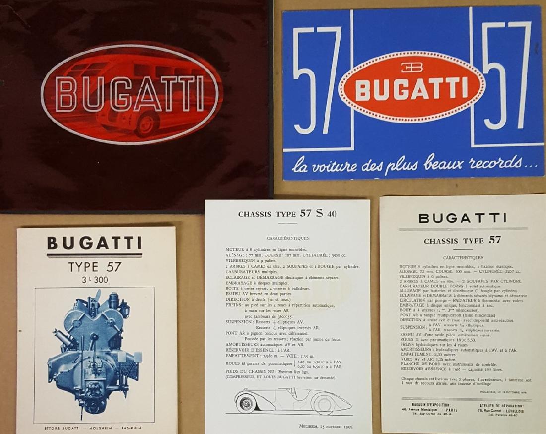 Bugatti Type 57 brochures