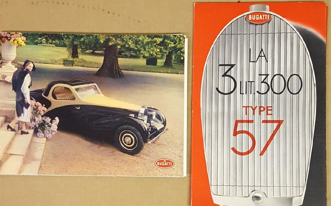 Two Type 57 Bugatti portfolios