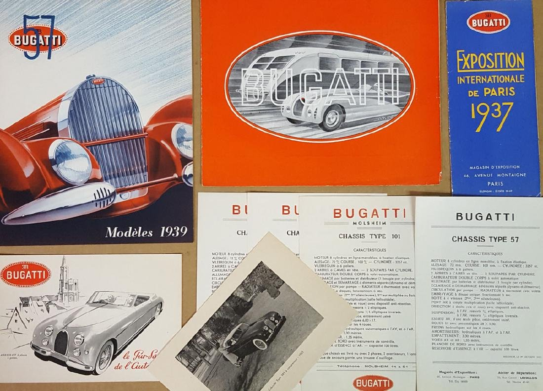 Bugatti brochures, late 1930's-early 1950's