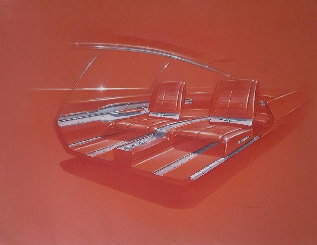 1962 Thunderbird interior rendering