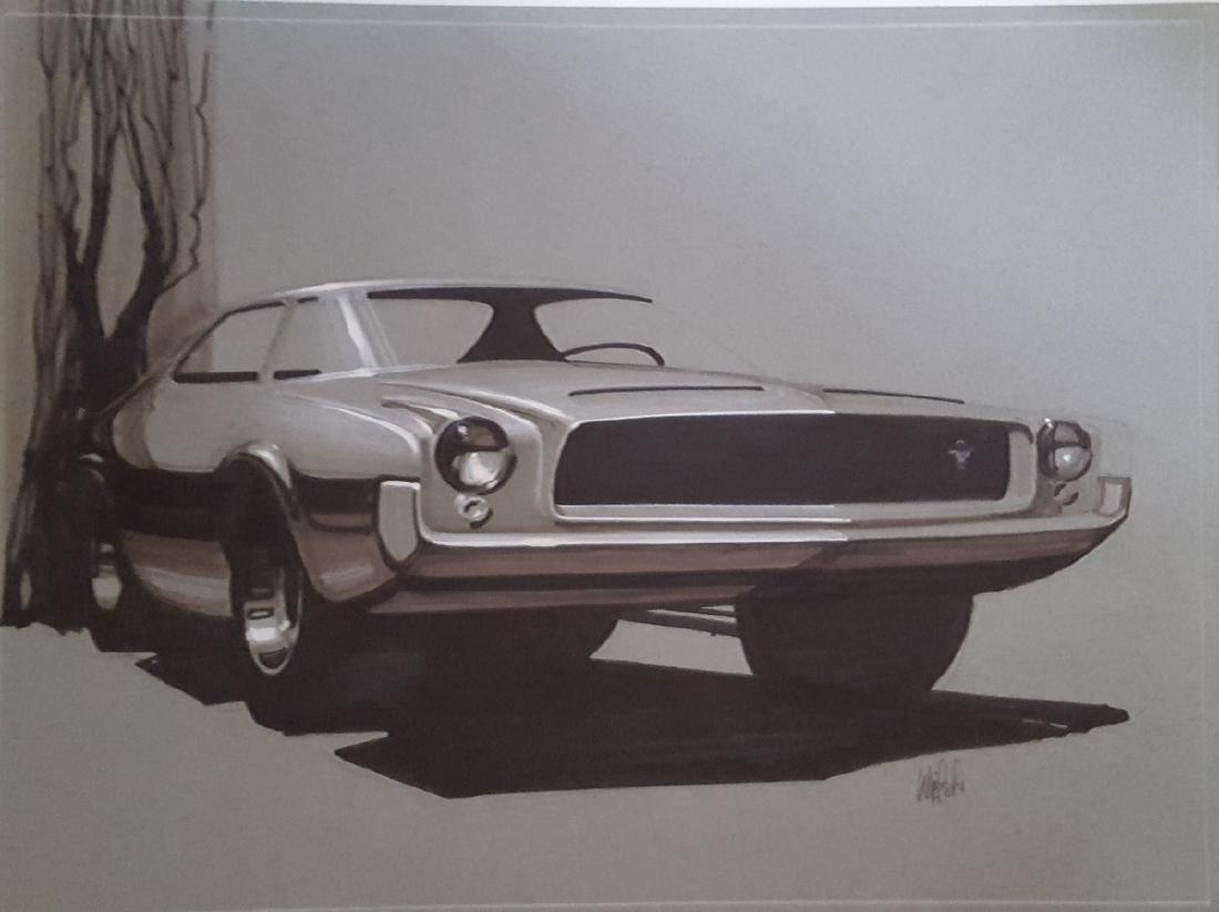 1963 Mustang concept rendering