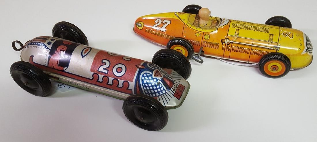Marx and Elenee tin litho racers toys